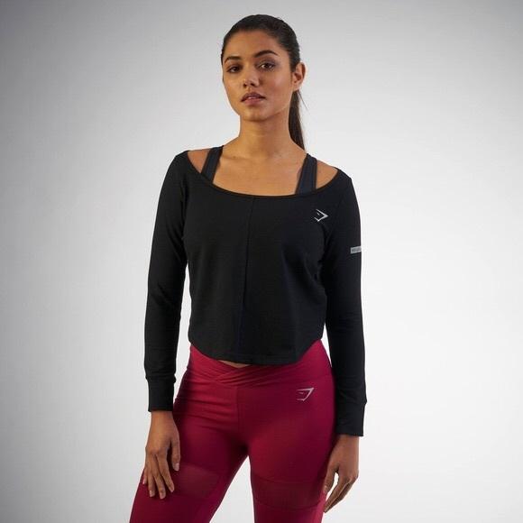 cfff3a9e36a Gymshark Tops | Sale Nikki Blackketter Studio Jumper Black | Poshmark